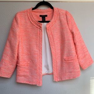 BCNU pink tweed blazer from Nordstrom